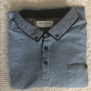 Denim and Flower Ricky Singh polo style shirt